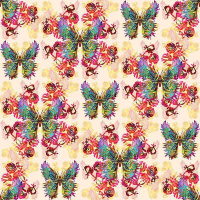 Digital Art - Lalabutterfly Pinks by Deborah Runham