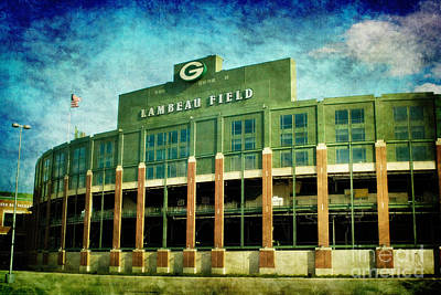 Sports Royalty-Free and Rights-Managed Images - Lalalalala Lambeau by Joel Witmeyer
