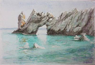 Skiathos Painting - Lalaria Skiathos Greece by Yvonne Ayoub