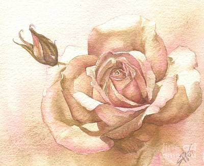 Lalique Rose Art Print by Sandra Phryce-Jones