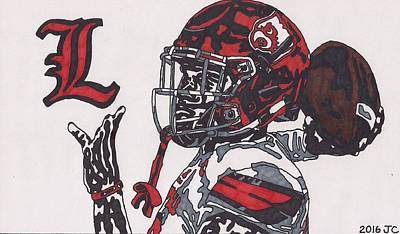 Drawing - Lamar Jackson by Jeremiah Colley