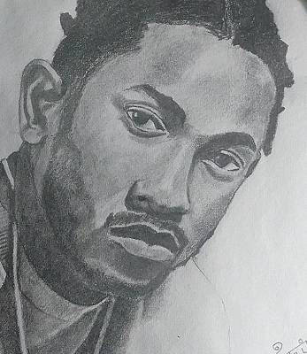 Hop Drawing - Kendrick Lamar by Karthik G Shet