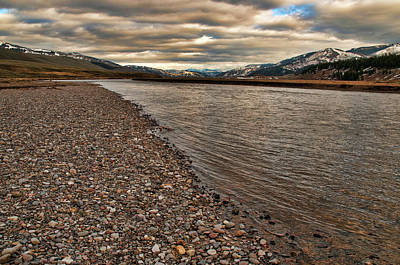 Photograph - Lamar River by Steve Stuller
