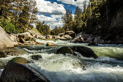 Photograph - Lamar River Yellowstone by TL  Mair