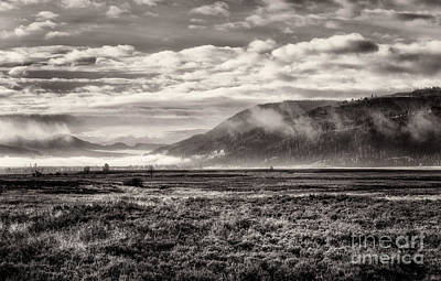 Pop Art Rights Managed Images - Lamar Valley Filled With Clouds 3 Toned Royalty-Free Image by Al Andersen