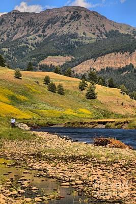 Lamar River Photograph - Lamar Valley Purple Mountains by Adam Jewell
