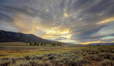 Lamar Valley Sunset Art Print