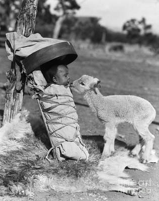 Lamb Approaching Navajo Baby Art Print by H. Armstrong Roberts/ClassicStock