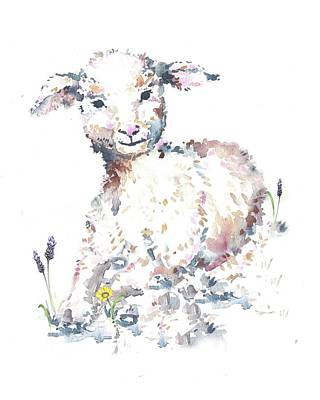 Painting - Lamb Nursery Art by Heidi Kriel