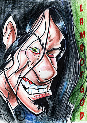 Caricature Drawing - Lamb Of God by Big Mike Roate