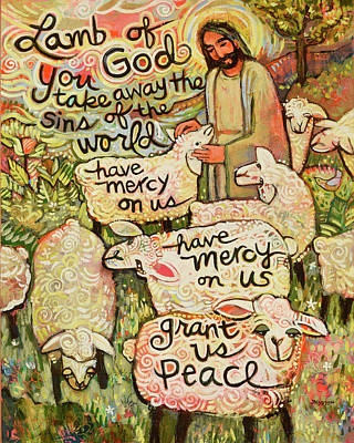 Lamb Of God Art Print by Jen Norton