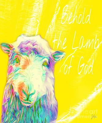 Mixed Media - Lamb Of God by Jessica Eli