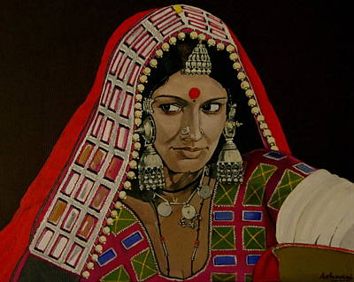 Indian Tribal Women Painting - Lambada Woman by Ashwini Bharathula
