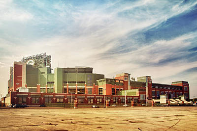 Photograph - Lambeau Field Retro Feel by Joel Witmeyer