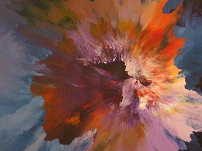 Orange Painting - Lambent by Soraya Silvestri
