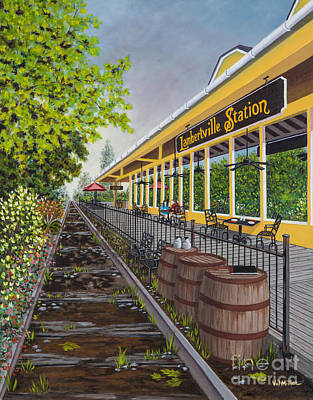 Painting - Lambertville Station by Val Miller