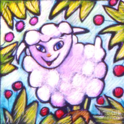 Lambie Art Print by Angelina Marino