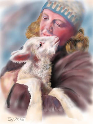 Painting - Lambie Love by Susan Sarabasha