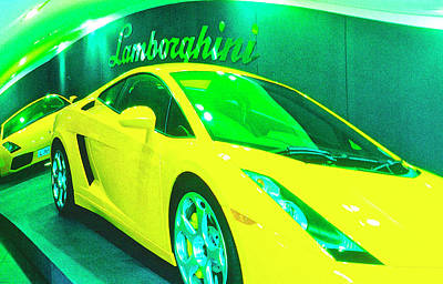 Lambo London Print by Jan W Faul