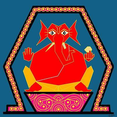 Lambodara Art Print by Pratyasha Nithin