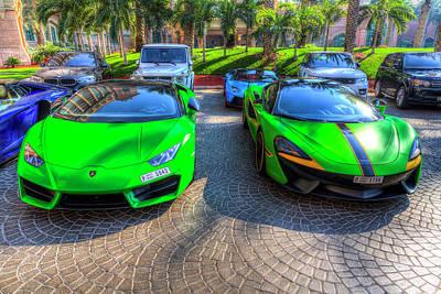 Photograph - Lamborghini And Mclaren Super Cars by David Pyatt