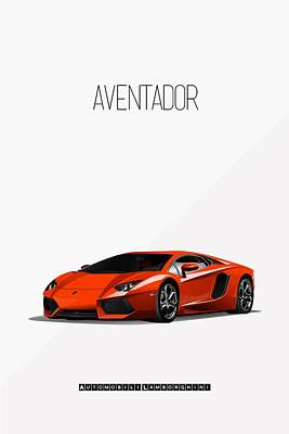 Painting - Lamborghini Aventador Iconic Poster by Beautify My Walls