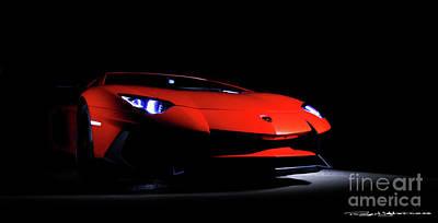 Mixed Media - Lamborghini Aventador Sv Lp750-4 by Roger Lighterness