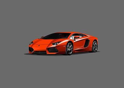 Digital Art - Lamborghini by Carlos Diaz
