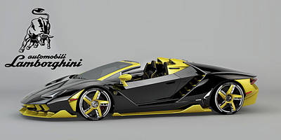 Digital Art - Lamborghini Centenario by Louis Ferreira
