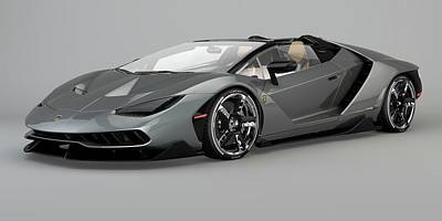 Drawing - Lamborghini Centenario Roadster by Louis Ferreira