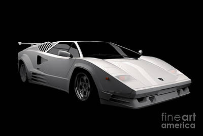 Digital Art - Lamborghini Countach 5000 Qv 25th Anniversary by David Marchal