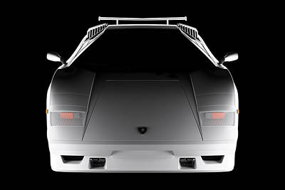Digital Art - Lamborghini Countach 5000 Qv 25th Anniversary - Front View  by David Marchal