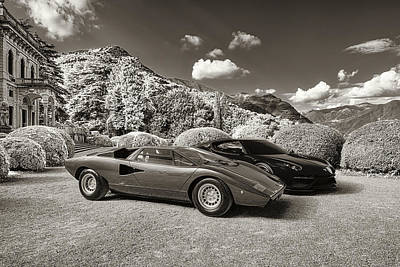 Lake Como Digital Art - Lamborghini Countach Lp400 With Asterion by Duschan Tomic