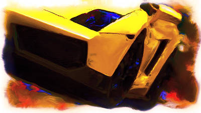 Lamborghini Front End Art Print by Brian Reaves