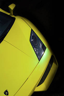 Photograph - Lamborghini Gallardo Lp-560 Hood by Eti Reid