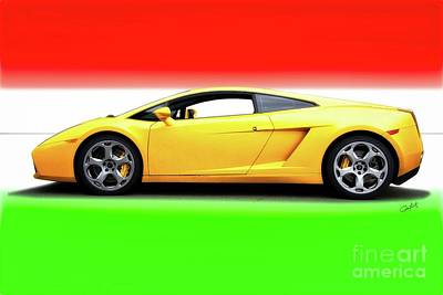 Royalty-Free and Rights-Managed Images - Lamborghini Gallaro Iconic Exotic by Dave Koontz
