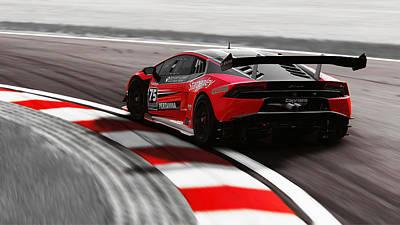 Photograph - Lamborghini Huracan Gt3 - 03 by Andrea Mazzocchetti