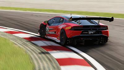 Photograph - Lamborghini Huracan Gt3 - 04 by Andrea Mazzocchetti