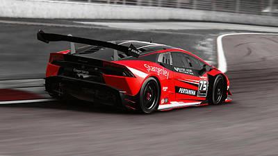 Photograph - Lamborghini Huracan Gt3 - 06  by Andrea Mazzocchetti