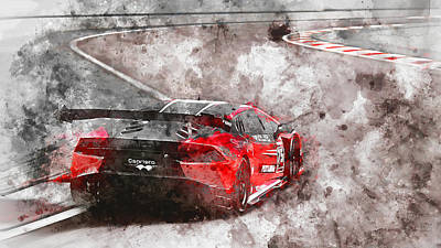Painting - Lamborghini Huracan Gt3 - 11 by Andrea Mazzocchetti