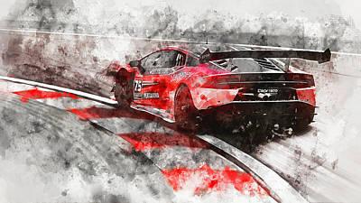 Painting - Lamborghini Huracan Gt3 - 14 by Andrea Mazzocchetti