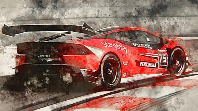 Painting - Lamborghini Huracan Gt3 - 20 by Andrea Mazzocchetti