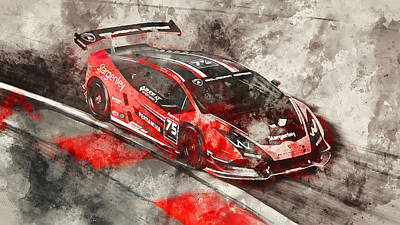 Painting - Lamborghini Huracan Gt3 - 21 by Andrea Mazzocchetti