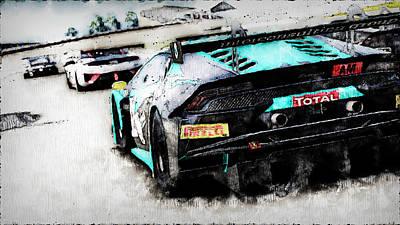 Painting - Lamborghini Huracan Gt3 - 22 by Andrea Mazzocchetti