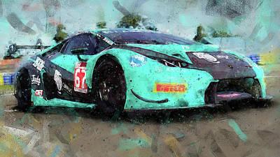 Painting - Lamborghini Huracan Gt3 - 23 by Andrea Mazzocchetti