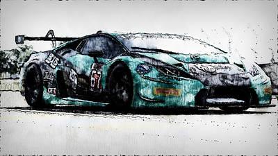 Painting - Lamborghini Huracan Gt3 - 25 by Andrea Mazzocchetti
