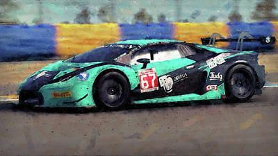 Painting - Lamborghini Huracan Gt3 - 26 by Andrea Mazzocchetti