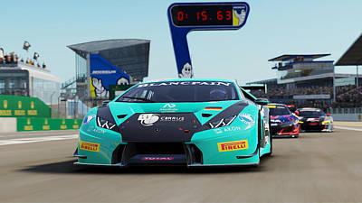 Photograph - Lamborghini Huracan Gt3 - Le Mans 01 by Andrea Mazzocchetti