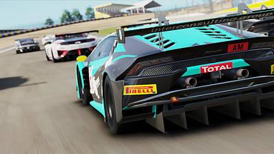 Photograph - Lamborghini Huracan Gt3 - Le Mans 08 by Andrea Mazzocchetti