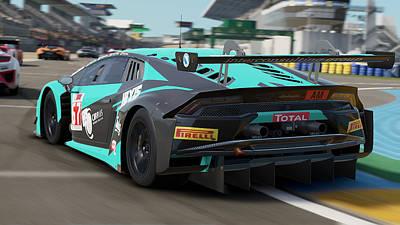 Photograph - Lamborghini Huracan Gt3 - Le Mans 09 by Andrea Mazzocchetti